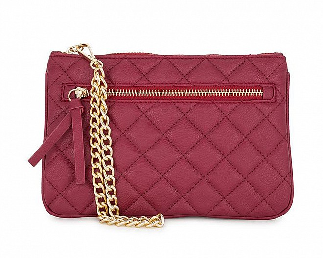 Susie Burgundy Leather Clutch