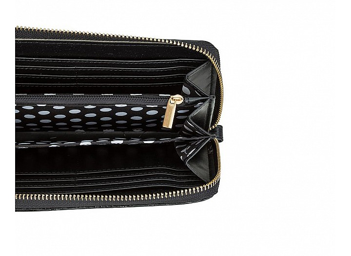 Lori Black Faux Textured Leather Clutch