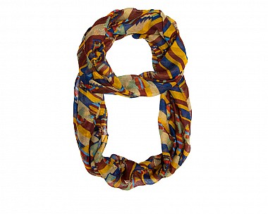 Mary Multi Infinity Scarf in Blue