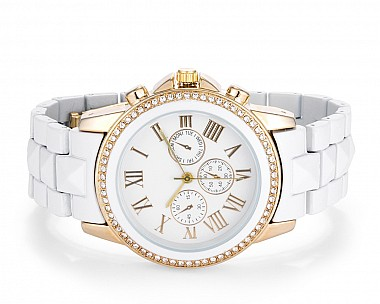 Alice White Studded Watch