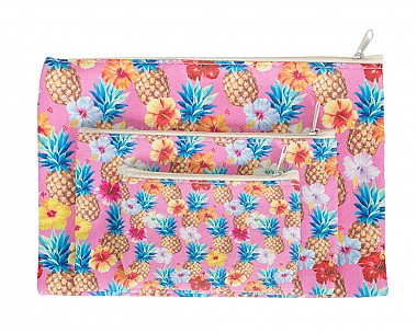 Cute 3 Piece Pineapple Cosmetic Bag Set