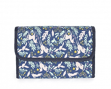 Canvas Unicorn Print Travel Cosmetic Bag