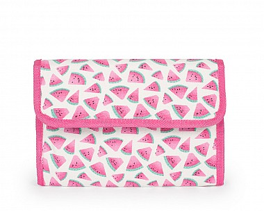 Canvas Watermelon Print Travel Cosmetic Bag