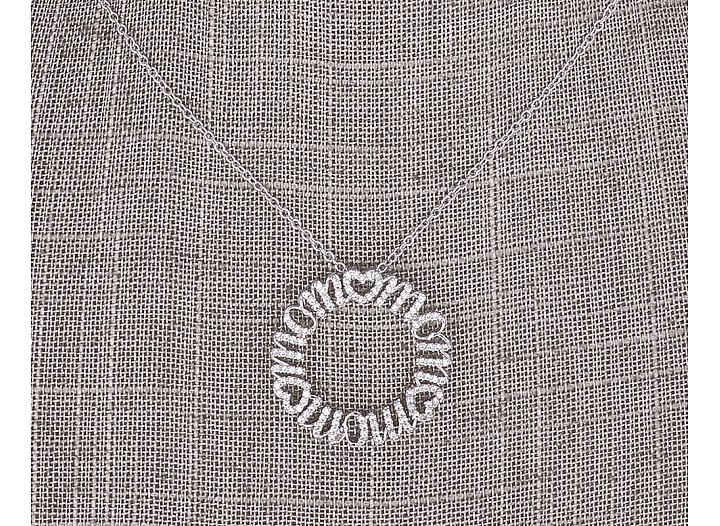 """Mom"" Circle Pendant"