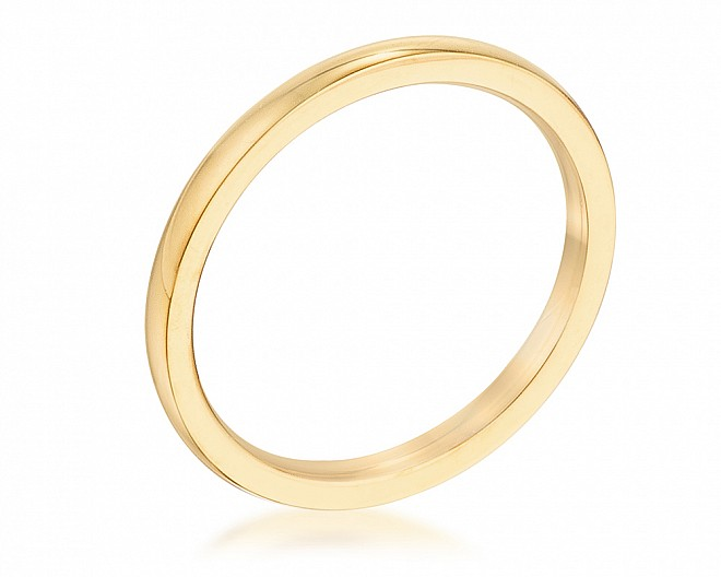 2 mm IPG Gold Plated Stainless Steel Wedding Band