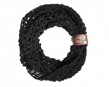 Aly Crochet Cowl Black Scarf