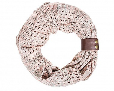 Connie Crochet Cowl Pink Scarf