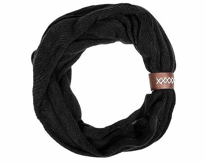 Melody Knitted Black Scarf