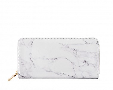 Lucy White Marble Wallet