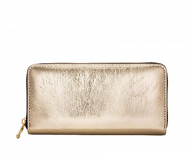 Susan Shiny Gold Wallet