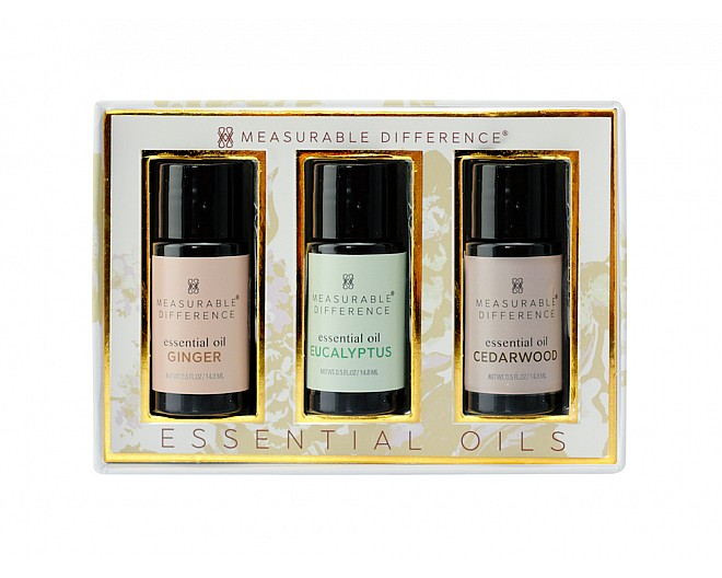 Essential Oil Trio - Ginger, Eucalyptus & Cedarwood