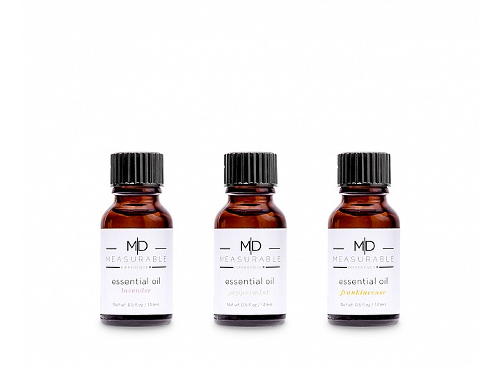 Essential Oil Trio - White Box (Lavender, Peppermint, Frankincense)