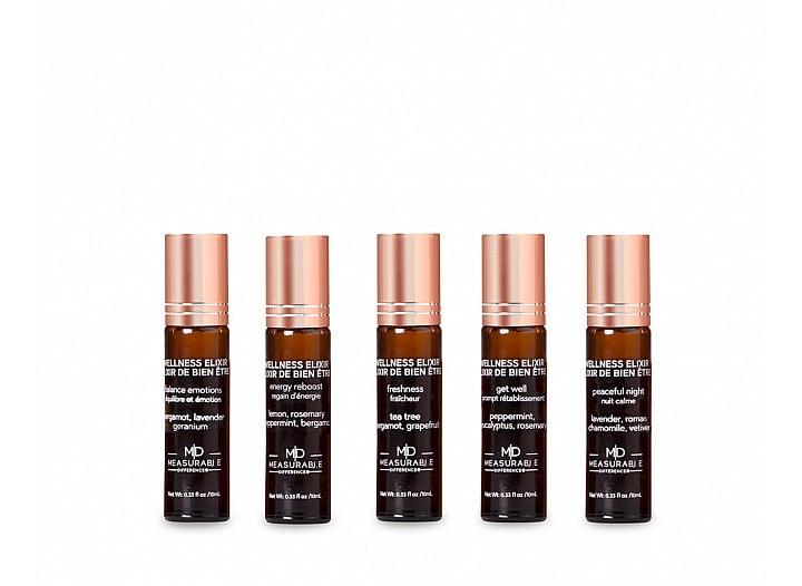 Wellness Elixir - 5pc Wooden Base Rollerball Collection
