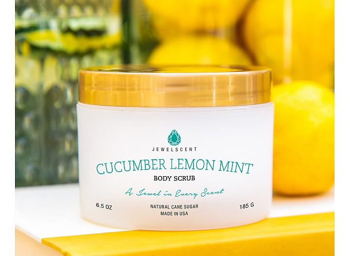 Cucumber Lemon Mint Jewelry Body Scrub