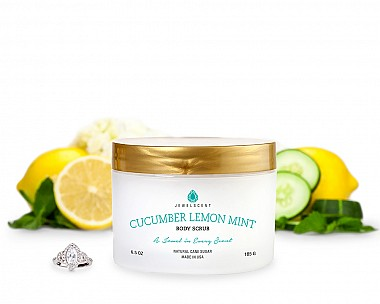 Cucumber Lemon Mint Jewelry Body Scrub