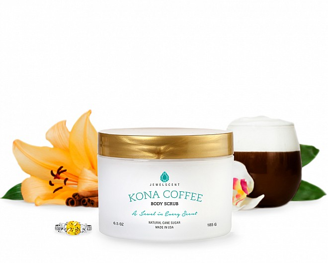 Kona Coffee Jewelry Body Scrub