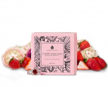Strawberry Sorbet Moroccan Argan Oil Jewelry Hand Soap
