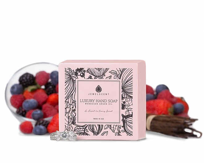 Vanilla Berry Moroccan Argan Oil Jewelry Hand Soap