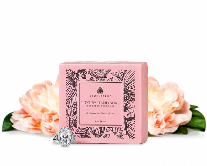 Waterlily Peony Moroccan Argan Oil Jewelry Hand Soap