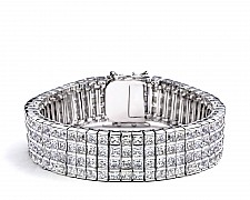 [Vault] 4-Row Princess Cut CZ Tennis Bracelet
