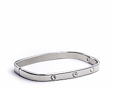 [Vault] Stainless Steel Square Latch Bangle