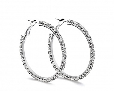 [Vault] Elegant Crystal Hoop Earrings